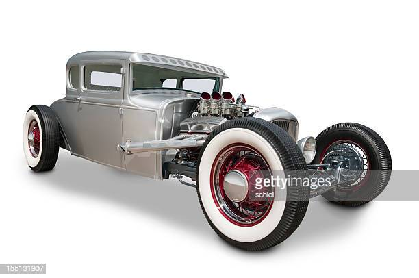 classic 1930's ford automobile - hot rod car stock photos and pictures