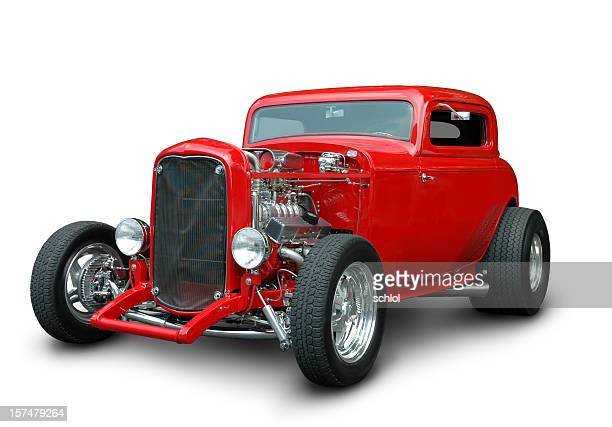 classic 1932 ford hot rod - hot rod car stock photos and pictures