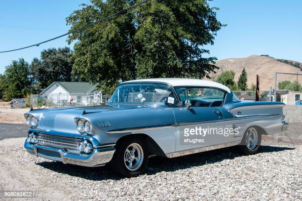 classic 1958 chevrolet impala - chevrolet impala stock pictures, royalty-free photos & images