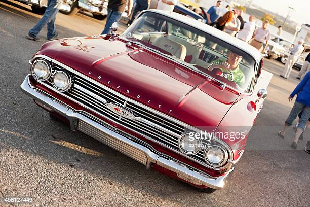classic 1960 chev impala - chevrolet impala stock pictures, royalty-free photos & images