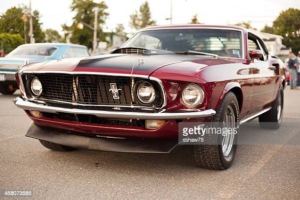 classic 1969 ford mustang mach 1 - 1960 1969 stock pictures, royalty-free photos & images