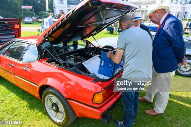 M1 classic 1970s German sports car on display at the 2019 Concours d'Elegance at palace Soestdijk on August 25 2019 in Baarn Netherlands Judges are...