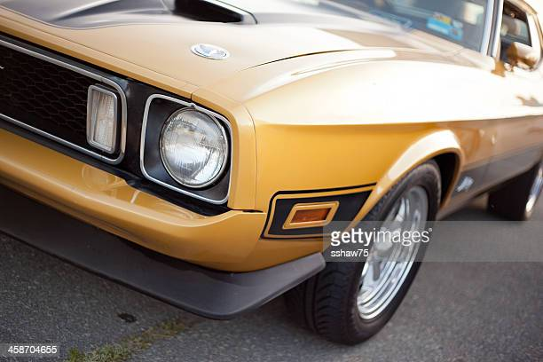 classic 1970's mustang muscle car - 1970s muscle cars stock pictures, royalty-free photos & images