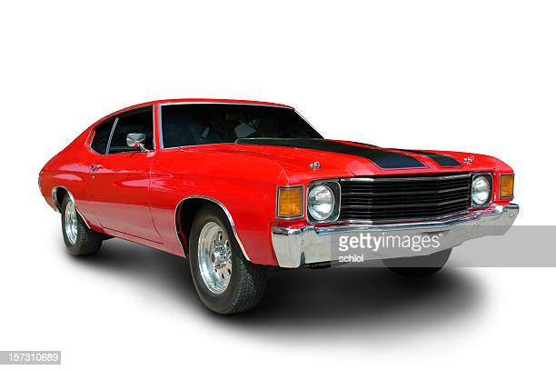 classic 1971 chevelle muscle car - 1970s muscle cars stock pictures, royalty-free photos & images