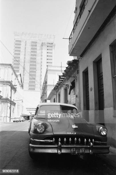 A classic American De Soto car seen here in the back streets of Havana Cuba 21st May 1978