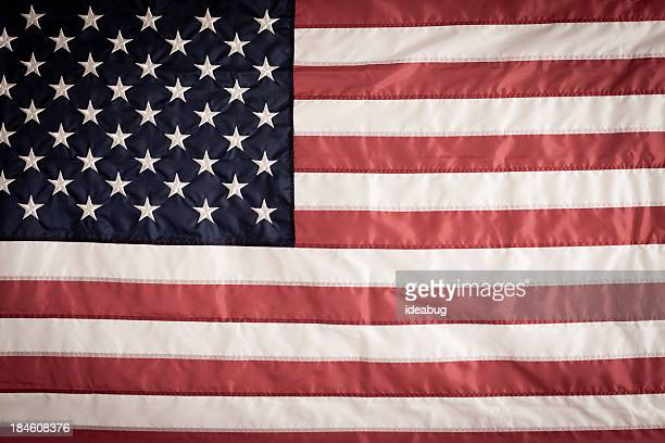 Classic American Flag Background with Vintage Feel