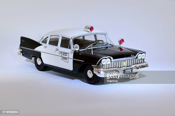 classic american police car model - law enforcement appreciation stock pictures, royalty-free photos & images