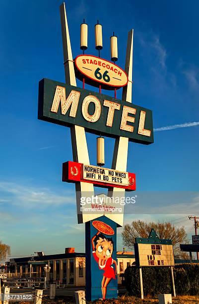Classic Americana Historic Stagecoach 66 Motel Neon Sign