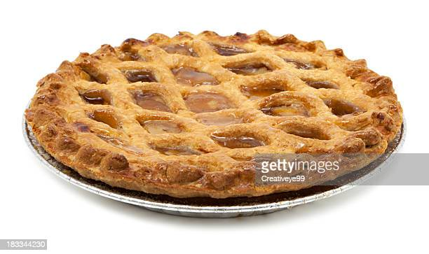 classic apple pie - sweet pie stock pictures, royalty-free photos & images