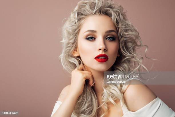 classic beauty - stage make up stock photos and pictures