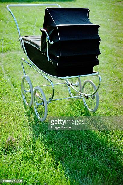 Classic black pushchair