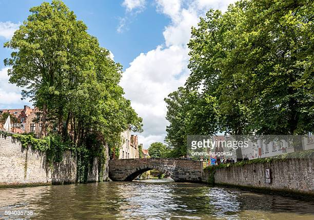 Classic canal sights of Bruges, Belgium