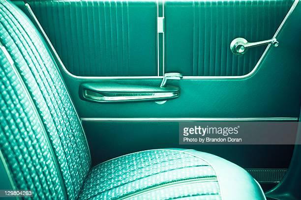 Classic car backseat interior