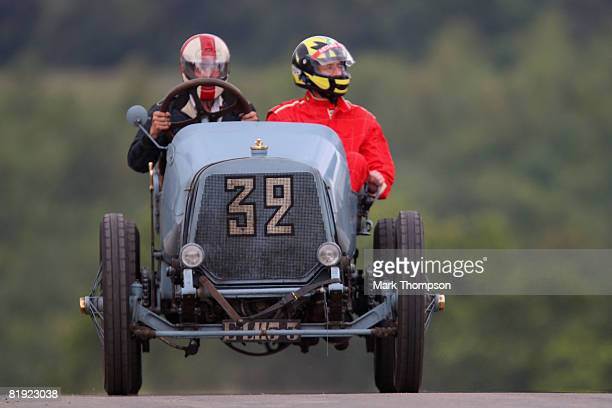 A classic car in action at the Goodwood Festival of Speed on July 13 2008 in Chichester England