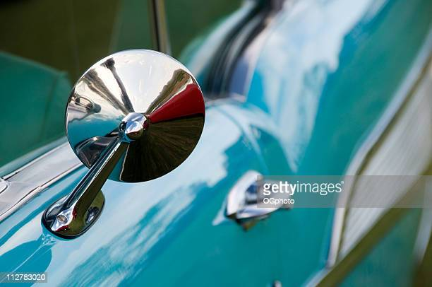 classic car mirror - ogphoto stock photos and pictures