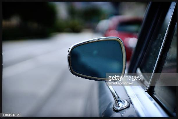 classic car mirror - side view mirror stock photos and pictures