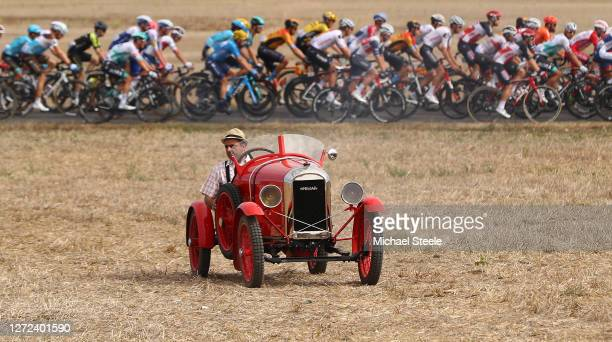 Classic Car / Peloton / Fans / Public / during the 107th Tour de France 2020, Stage 12 a 218km stage from Chauvigny to Sarran Corrèze 658m / #TDF2020...