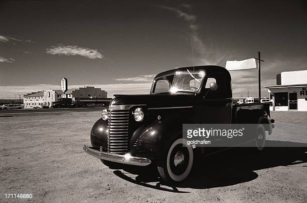 classic car - route 66 - hot rod car stock photos and pictures