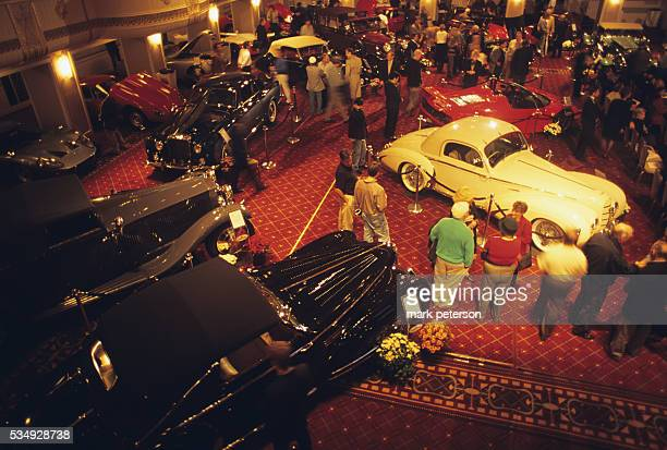 Classic car salon and auction at the Waldorf Astoria Hotel In NYC