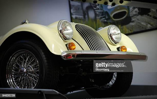 Classic car sits on display inside the Cars International showroom in South Kensington, London, U.K., on Monday, Dec.17, 2007. London's most...