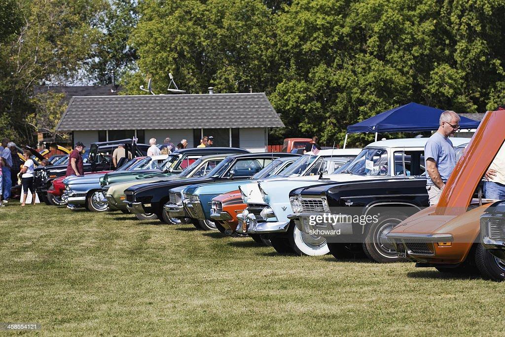 Klassische Autos in einer Show : Stock-Foto