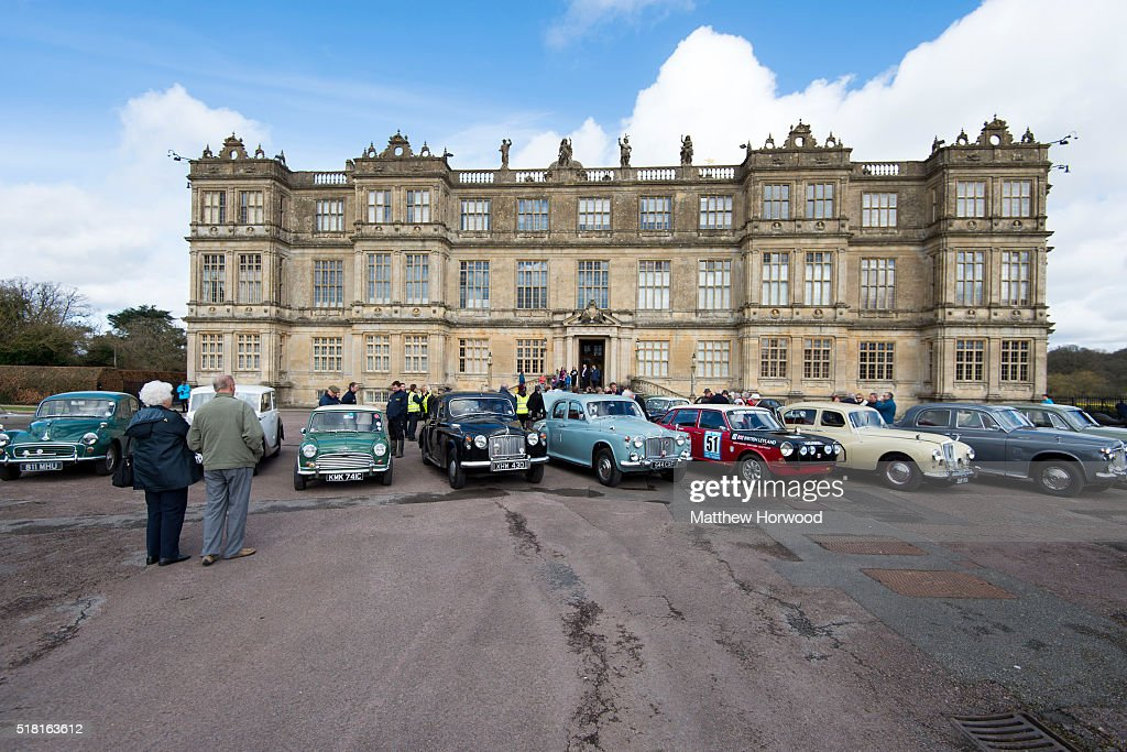 Classic cars at Longleat House on March 30, 2016 in Wiltshire, England. This year Longleat marks the 50th anniversary of its ground-breaking safari park. In 1966, the park, set in the grounds of the Wiltshire stately home, became the first of its kind to open outside of Africa.