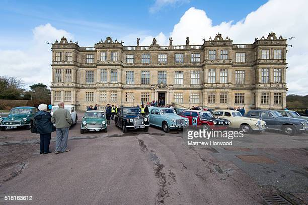 Classic cars at Longleat House on March 30 2016 in Wiltshire England This year Longleat marks the 50th anniversary of its groundbreaking safari park...