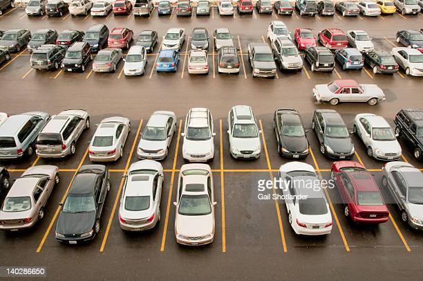 classic cars in parking lot - car park stock pictures, royalty-free photos & images