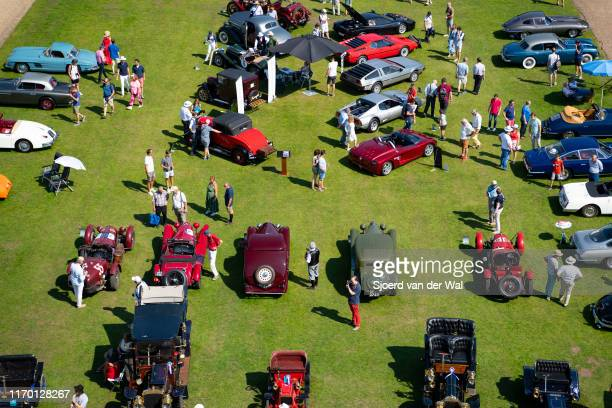 Classic cars on display at the 2019 Concours d'Elegance at palace Soestdijk on August 25 2019 in Baarn Netherlands This is the first time the...