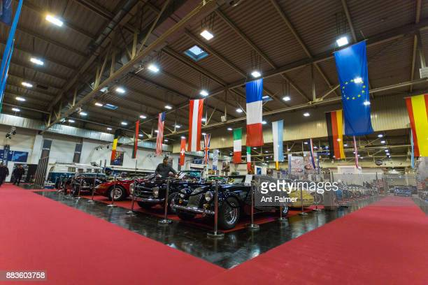 Classic cars on display at the Essen Motor Show on December 1 2017 in Essen Germany The Essen Motor show is celebrating its 50th edition