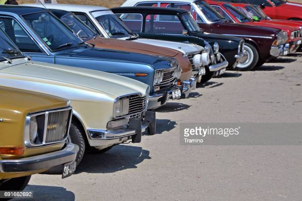 Classic cars on the parking