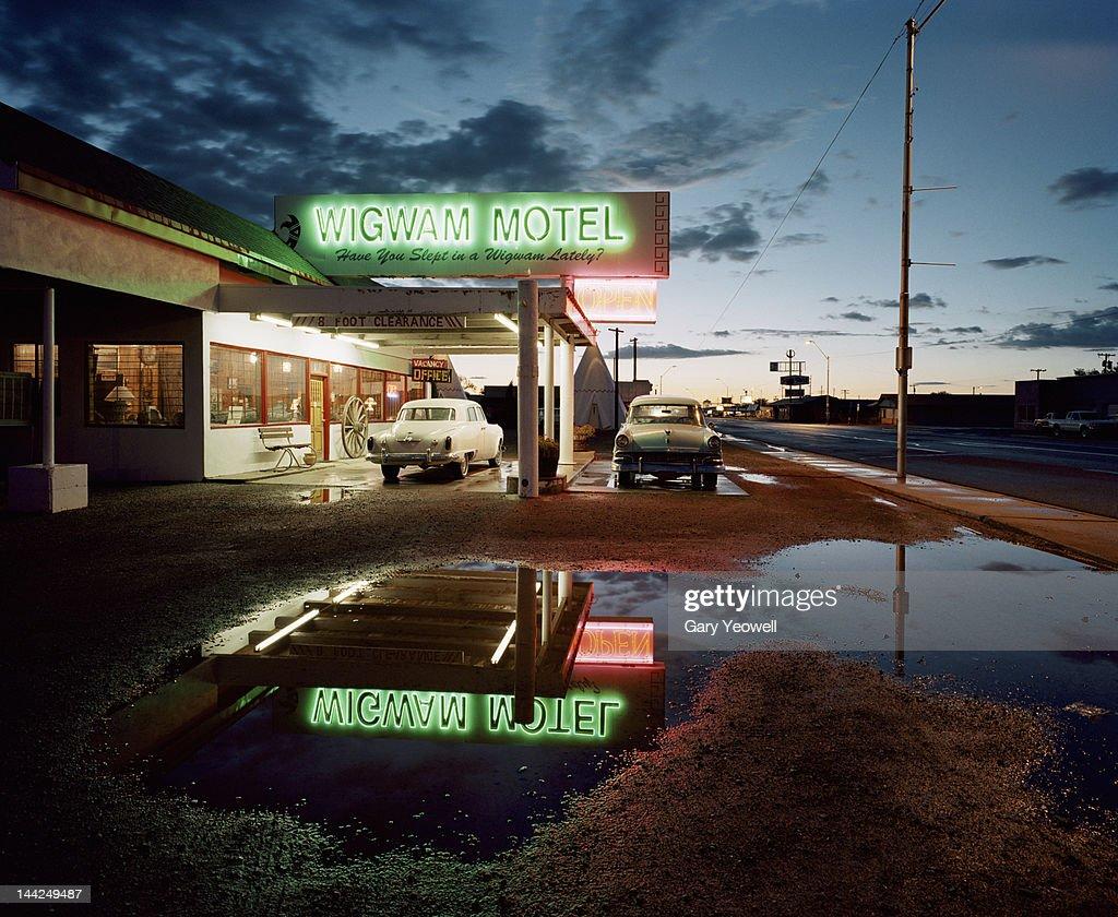 USA,Arizona,Holbrook,Motel along classic Route 66