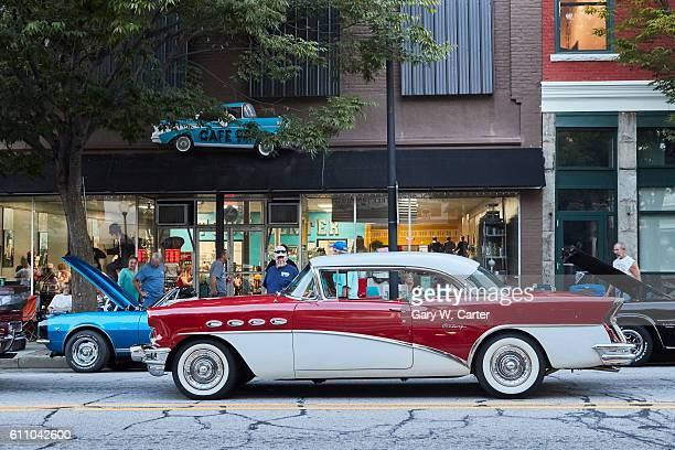classic cars show. reidsville, north carolina. - motor show stock pictures, royalty-free photos & images