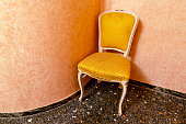 vintage classic chair with curved legs