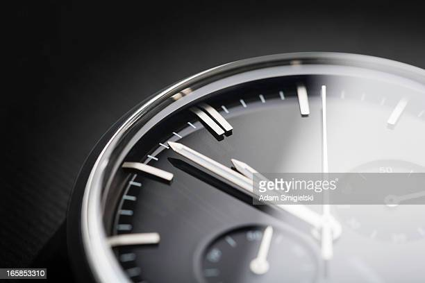 classic chronograph wristwatch - wrist watch stock pictures, royalty-free photos & images
