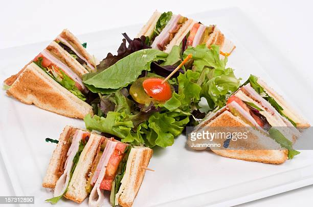 classic club sandwich - club sandwich stock pictures, royalty-free photos & images