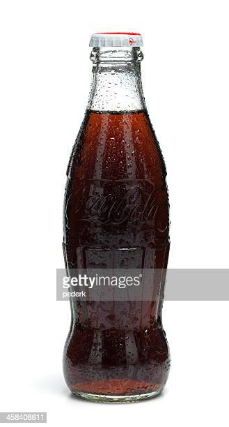 classic cola bottle - pepsi stock pictures, royalty-free photos & images