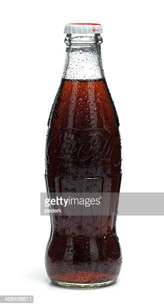 klassische cola bottle - pepsi stock-fotos und bilder