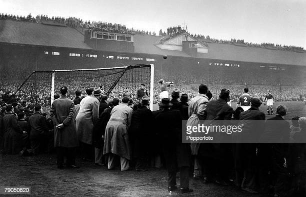 Classic Collection Page 74 Large crowds watching football match Chelsea v Moscow Dynamo at Stamford BridgeLondon 14th November 1946