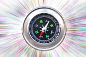 classic compass natural abstract green