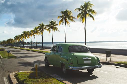 Classic Cuba Vintage Car Driving - gettyimageskorea