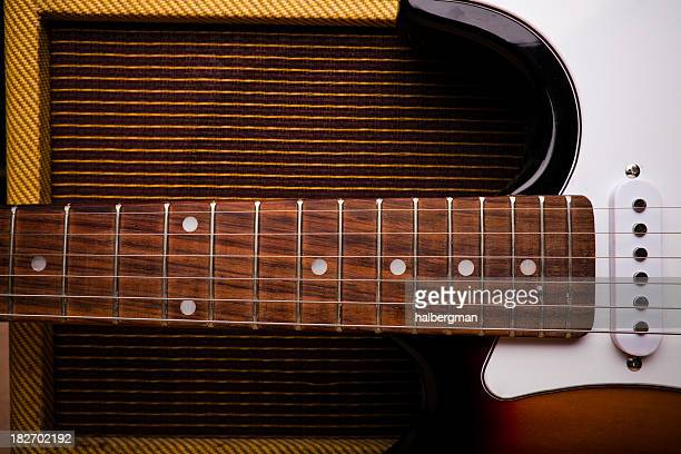 Classic Electric Guitar and Amp Still Life