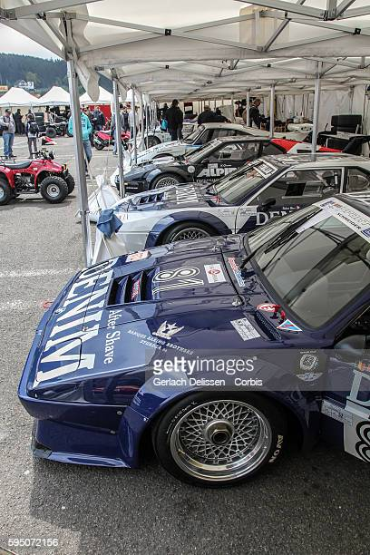 Classic endurance racing, lined up in the paddock during Spa-CLassic, May 25th, 2013 at Spa-Francorchamps Circuit in Belgium.