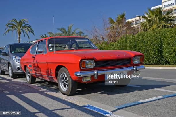 classic ford capri on the street - 1970s muscle cars stock pictures, royalty-free photos & images