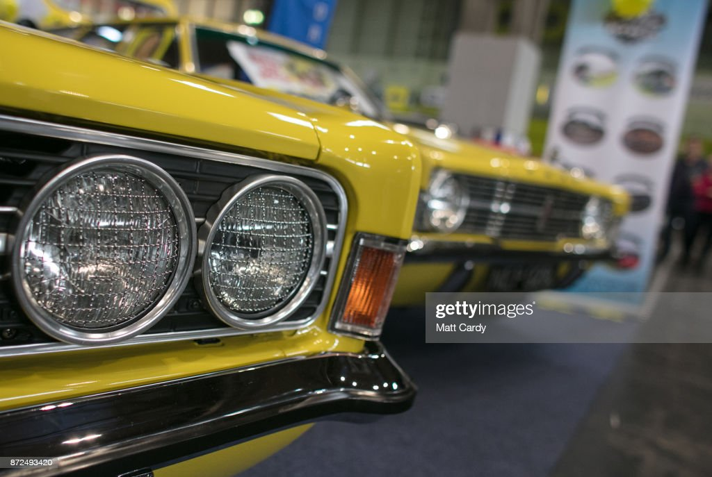 A classic Ford Cortina is pictured on the first day of the Lancaster Classic Motor Show at the NEC Birmingham on November 10, 2017 in Birmingham, England. According to a recent survey by the Federation of British Historic Vehicles Clubs, the historic vehicle industry currently generates revenues in excess of £5.5 billion per year for the UK economy, and while current government policy is to promote self-driving and low carbon cars, according to Transport Minister Chris Grayling his party is also committed to supporting owners of classic cars, and those that want to continue to use them on the road in the future.