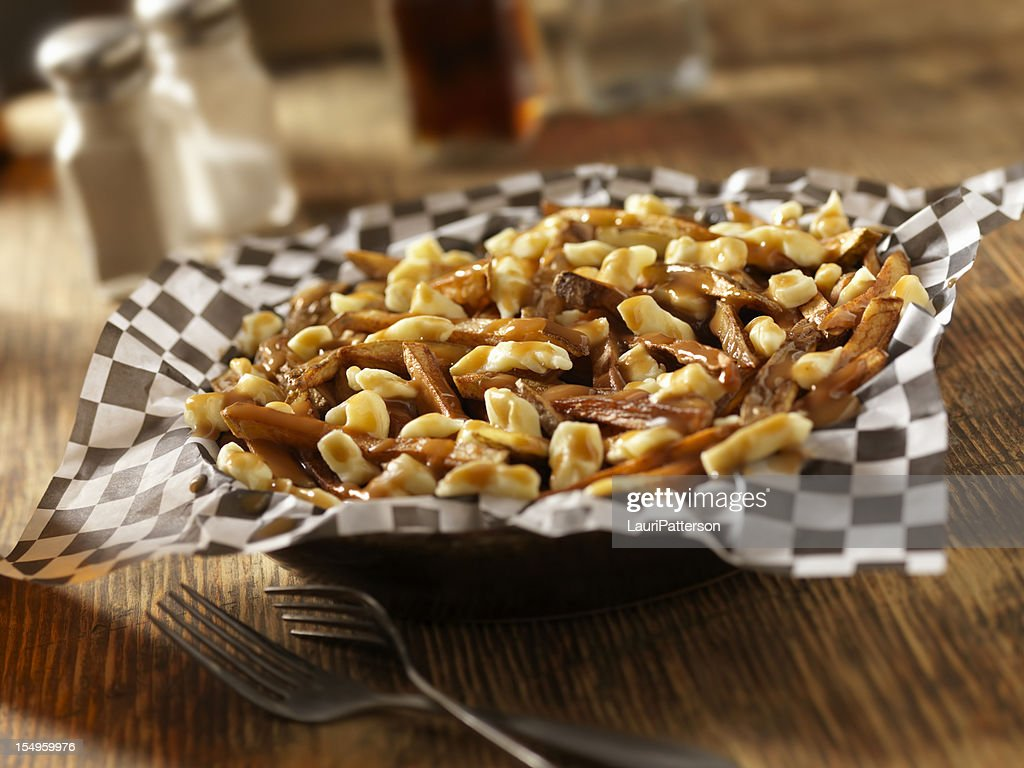 Classic French Canadian Poutine : Stock Photo