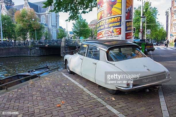 """classic french citroen ds limousine car in amsterdam - """"sjoerd van der wal"""" stock pictures, royalty-free photos & images"""