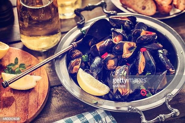 Classic French Mussels Dish