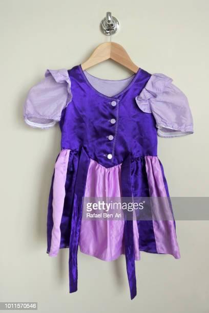 classic girl dress dress up costume - rafael ben ari stock-fotos und bilder