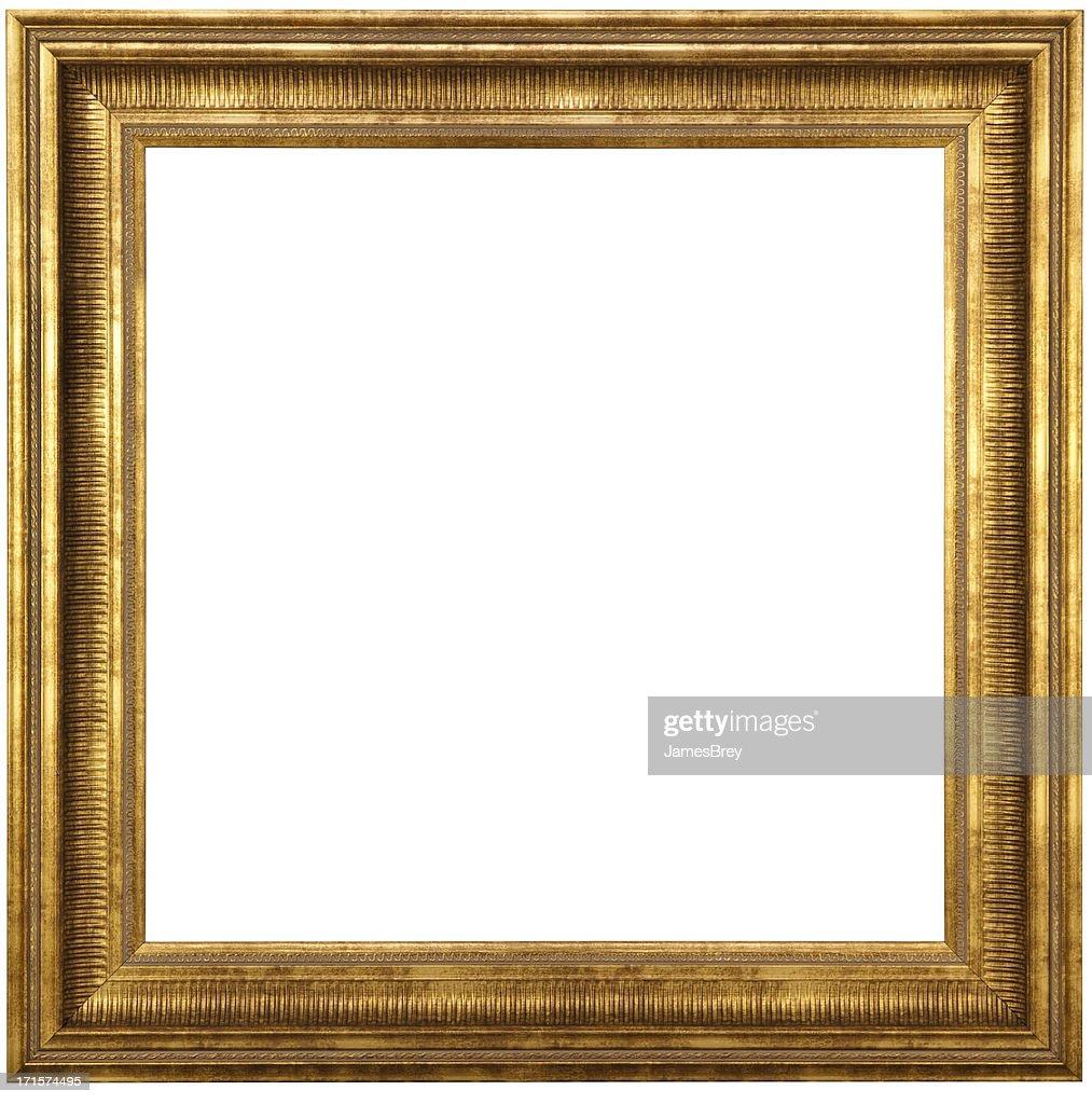 Classique cadre photo or avec un Tracé de détourage : Photo